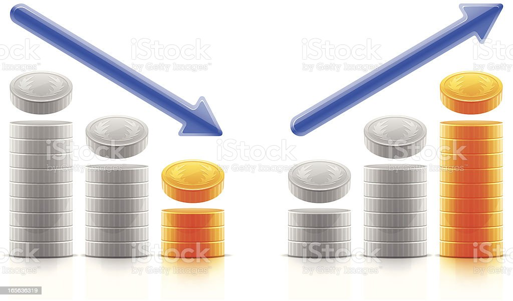 Income trend vector art illustration