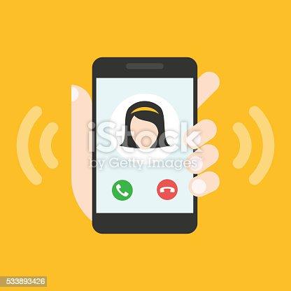 istock Incoming call on smartphone screen 533893426