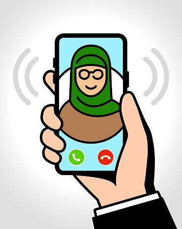 Incoming call on smartphone