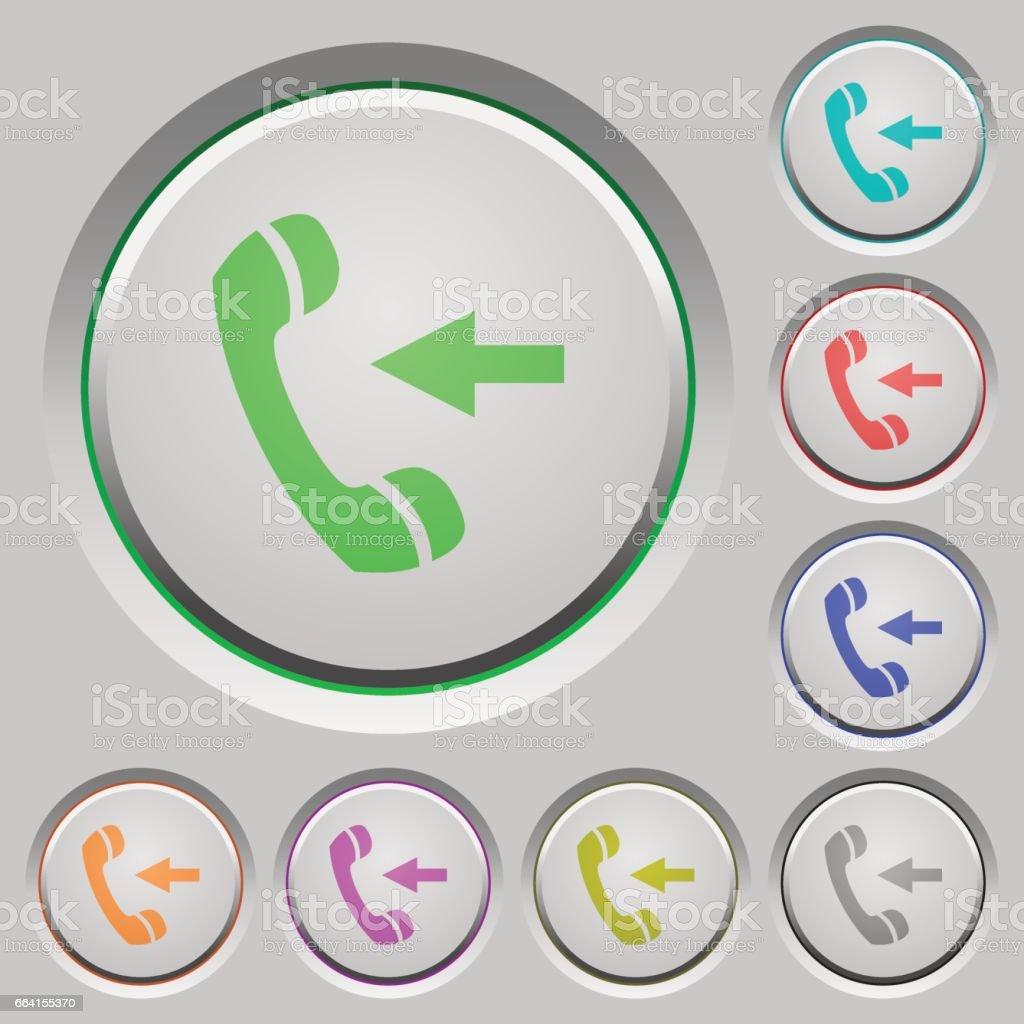 Incoming call push buttons incoming call push buttons - immagini vettoriali stock e altre immagini di affondato royalty-free