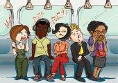 Inconsiderate passengers