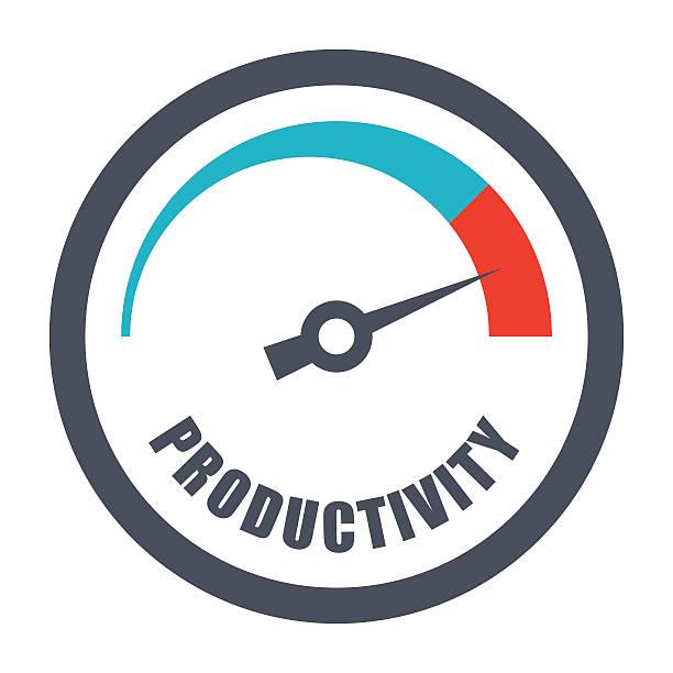 bildbanksillustrationer, clip art samt tecknat material och ikoner med increase productivity concept - prestation
