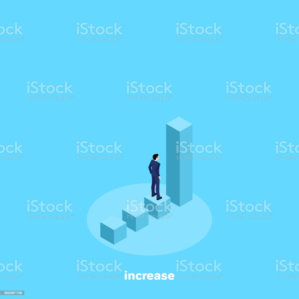 increase vector art illustration