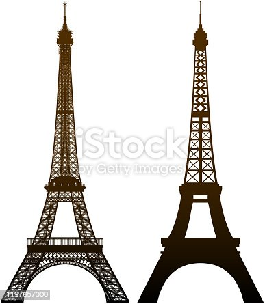 Incredibly detailed Eiffel Tower, two versions. Zoom in to see the detail!