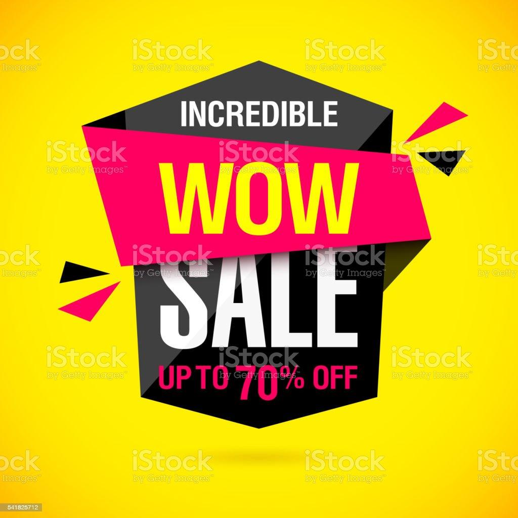 Incredible Wow Sale banner vector art illustration