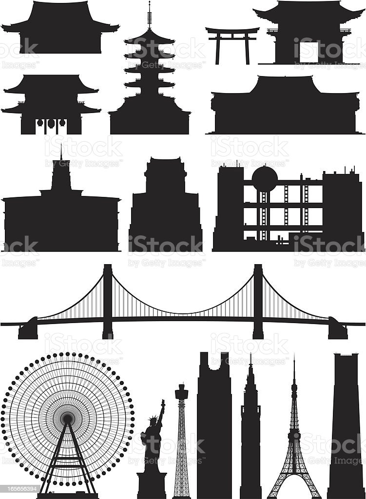 Incredibly Detailed Tokyo Buildings royalty-free incredibly detailed tokyo buildings stock vector art & more images of asakusa kannon temple