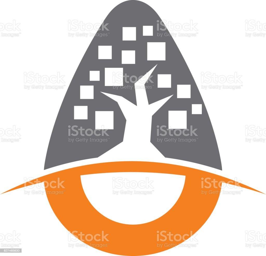 Incubator Tree App vector art illustration