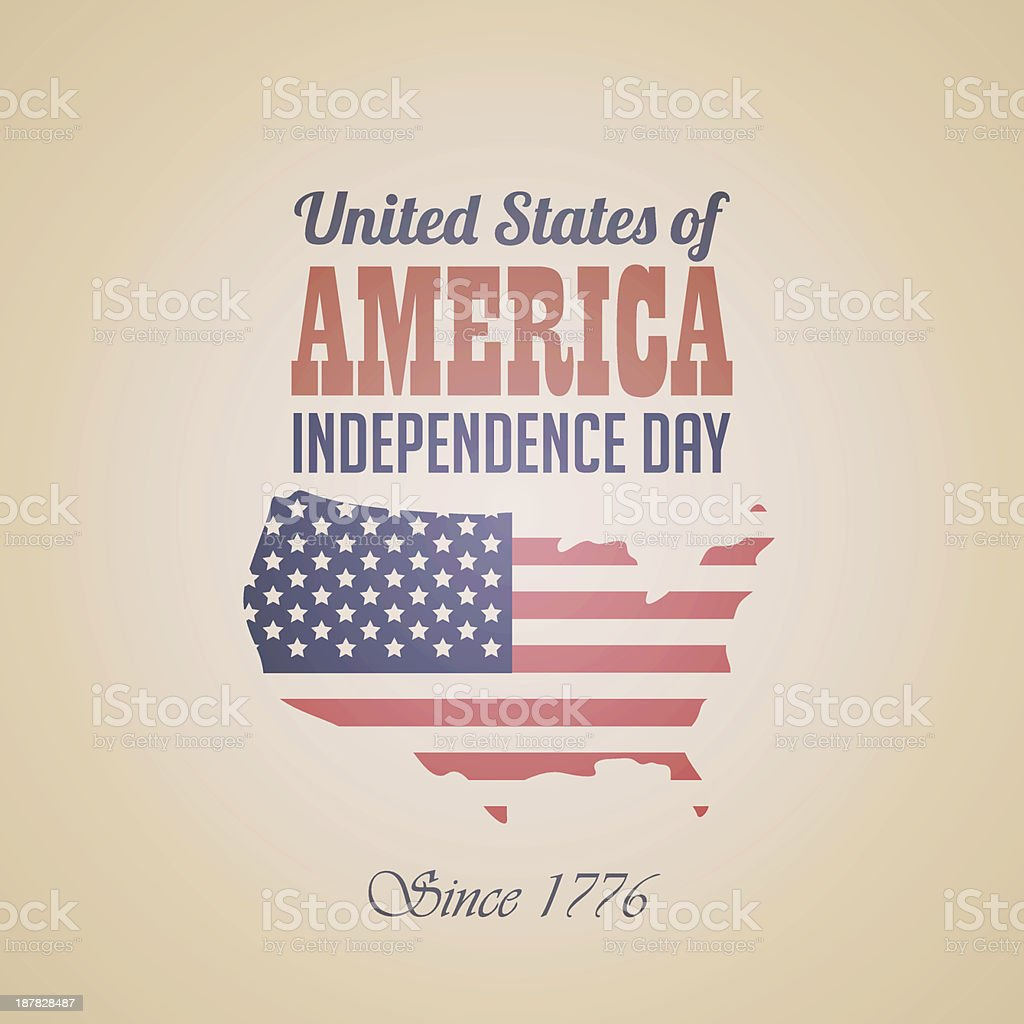 USA Independece Day Banner typography design template vector art illustration