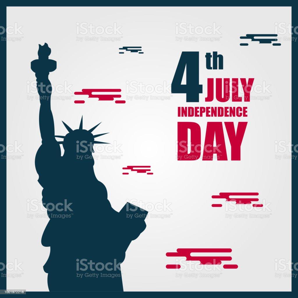 independence day 4th july vector template design illustration stock
