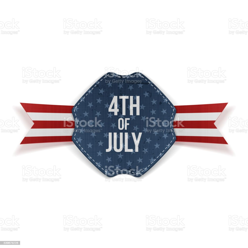 Independence Day 4th of July greeting Banner vector art illustration
