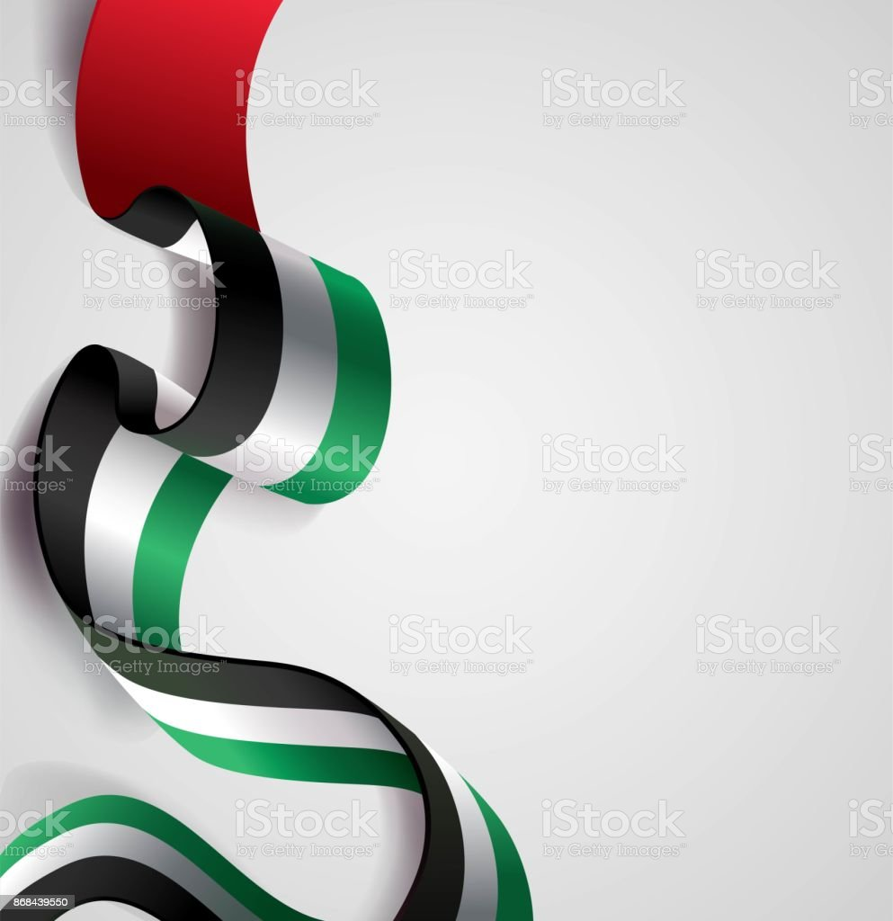 UAE Independence Day abstract background in national flag color theme. vector art illustration