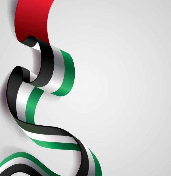 uae independence day abstract background in national flag color theme. - uae flag stock illustrations
