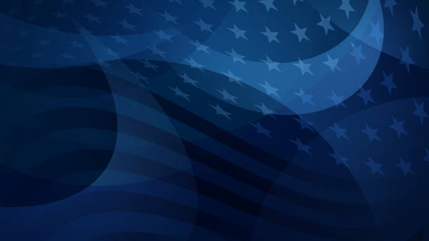 Independence day abstract background Independence day abstract background with elements of the American flag in dark blue colors american culture stock illustrations