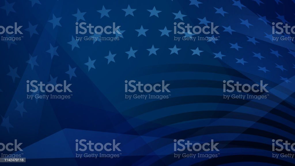 Independence day abstract background Independence day abstract background with elements of the American flag in dark blue colors Abstract stock vector