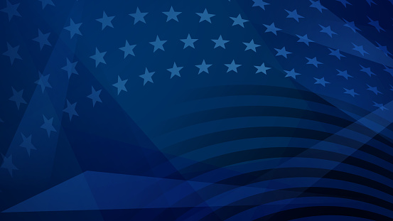 Independence day abstract background with elements of the American flag in dark blue colors