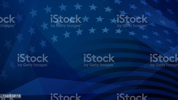 Independence Day Abstract Background Stock Illustration - Download Image Now