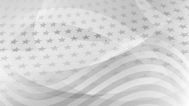 Independence day abstract background Independence day abstract background with elements of the american flag in gray colors patriotic stock illustrations
