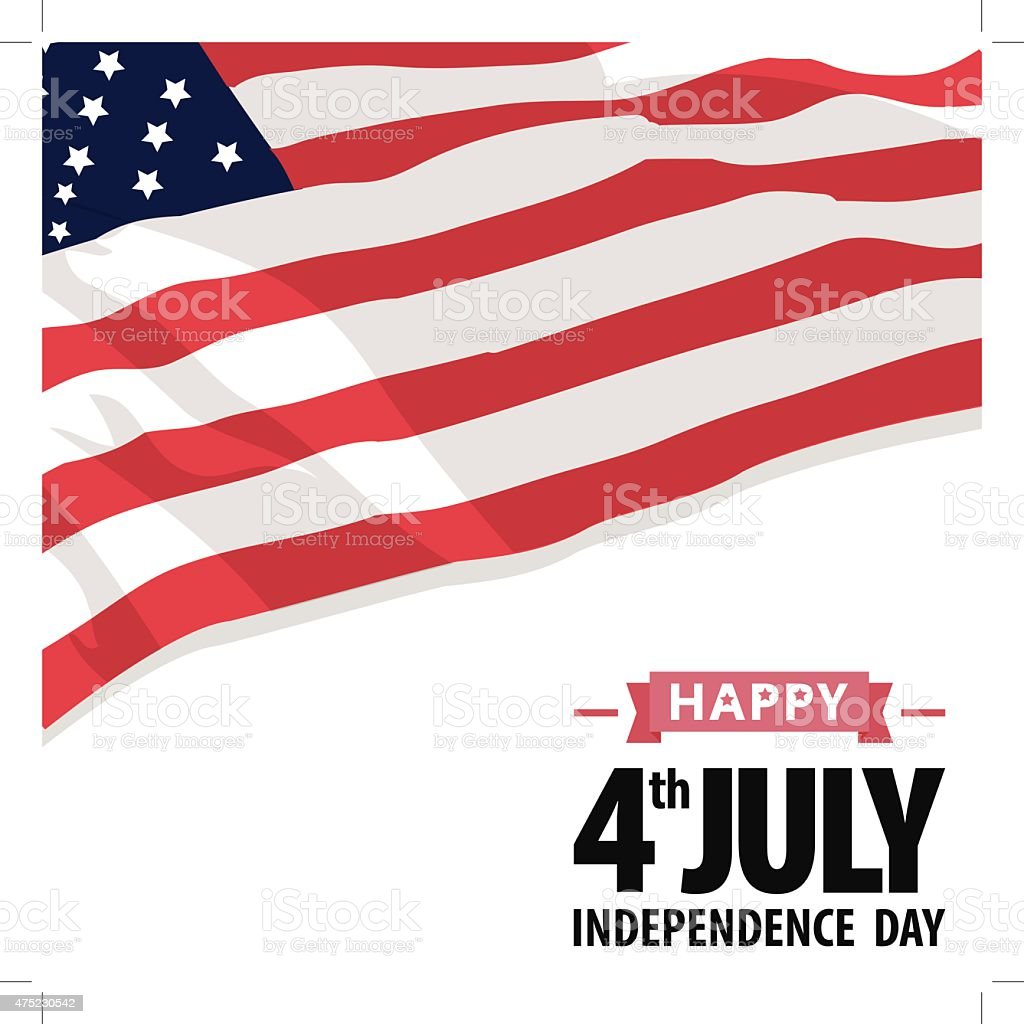 Independence Day America vector art illustration