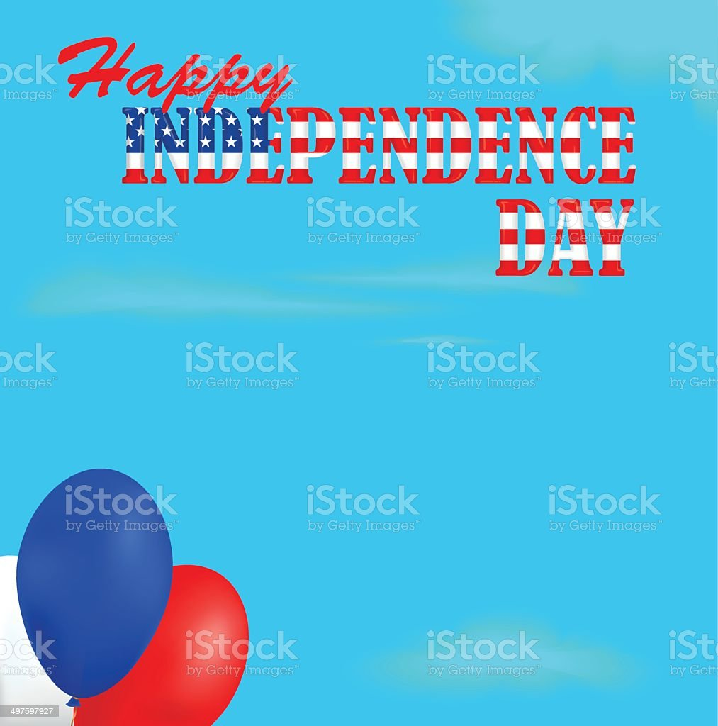 Independence Day background royalty-free stock vector art