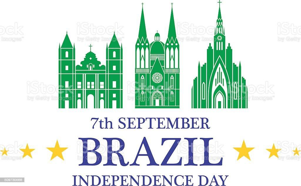 Independence Day. Brazil vector art illustration