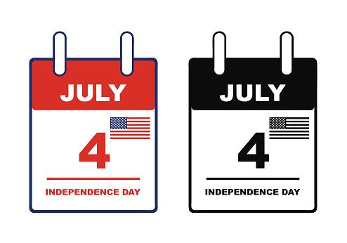 Independence day calendar