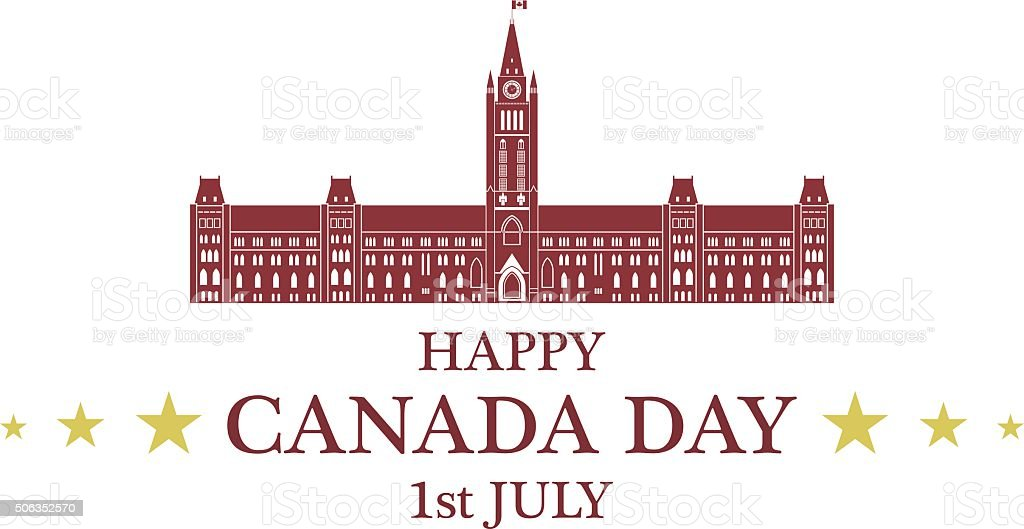 Independence Day. Canada vector art illustration