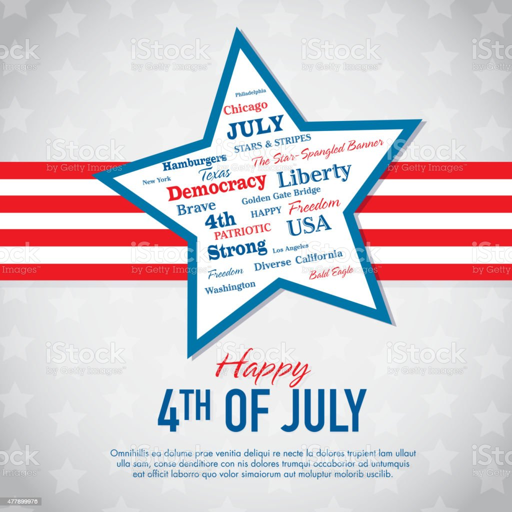 Independence Day Celebration greeting card design template vector art illustration
