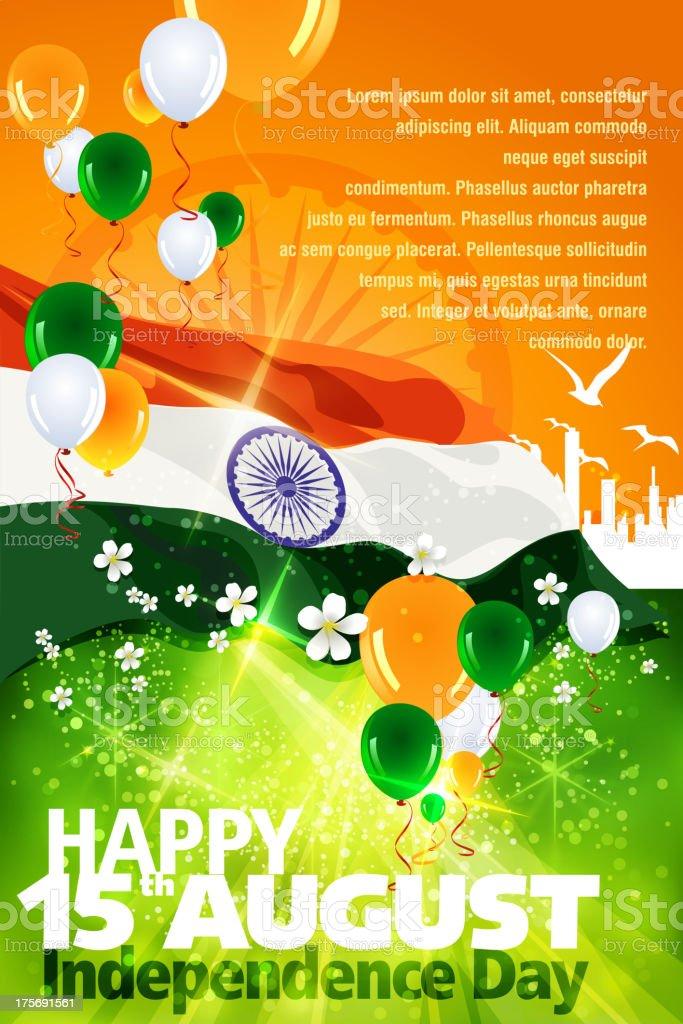 Independence Day Celebration of India vector art illustration