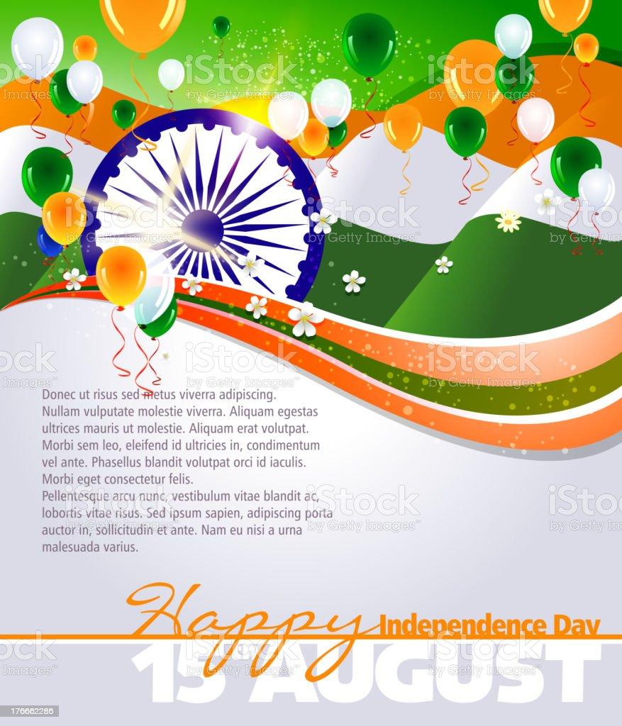 Celebración del Día de la independencia de India ilustración de celebración del día de la independencia de india y más banco de imágenes de bandera libre de derechos