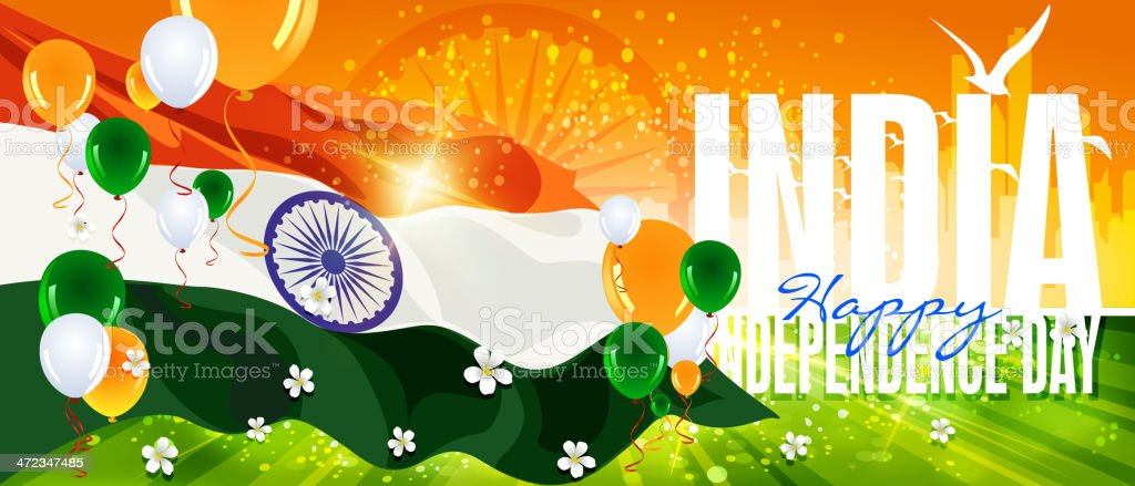 Independence Day Celebration of India royalty-free stock vector art
