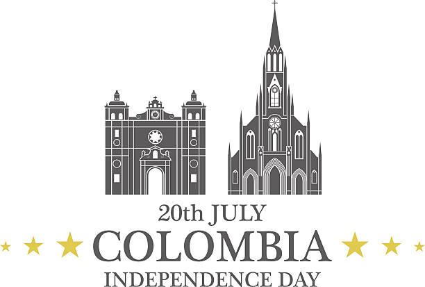 tag der unabhängigkeit. kolumbien - cartagena stock-grafiken, -clipart, -cartoons und -symbole