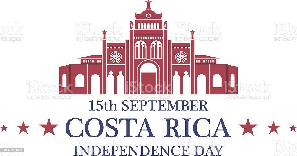 Día de la independencia. Costa Rica - ilustración de arte vectorial