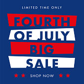 Independence day Day sale design for advertising, banners, leaflets and flyers - Illustration