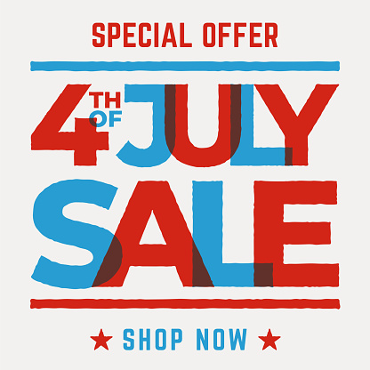 Independence day Day sale design for advertising, banners, leaflets and flyers.