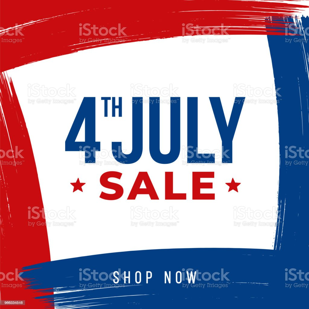 Independence day Day sale design for advertising, banners, leaflets and flyers vector art illustration