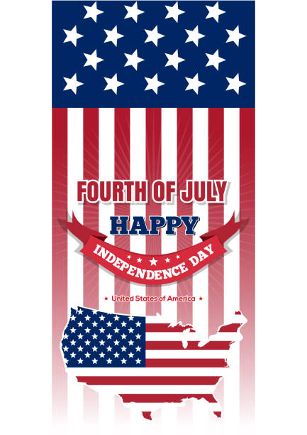us independence day design. fourth of july - happy 4th of july stock illustrations