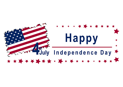 Independence Day Design Mit Text Und Landkarte Stock Illustration