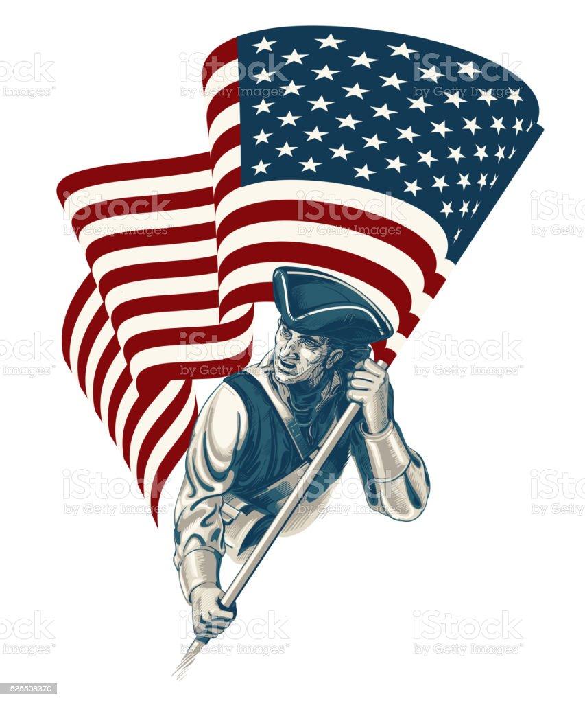 Independence Day - Fourth of July Vector vintage illustration vector art illustration