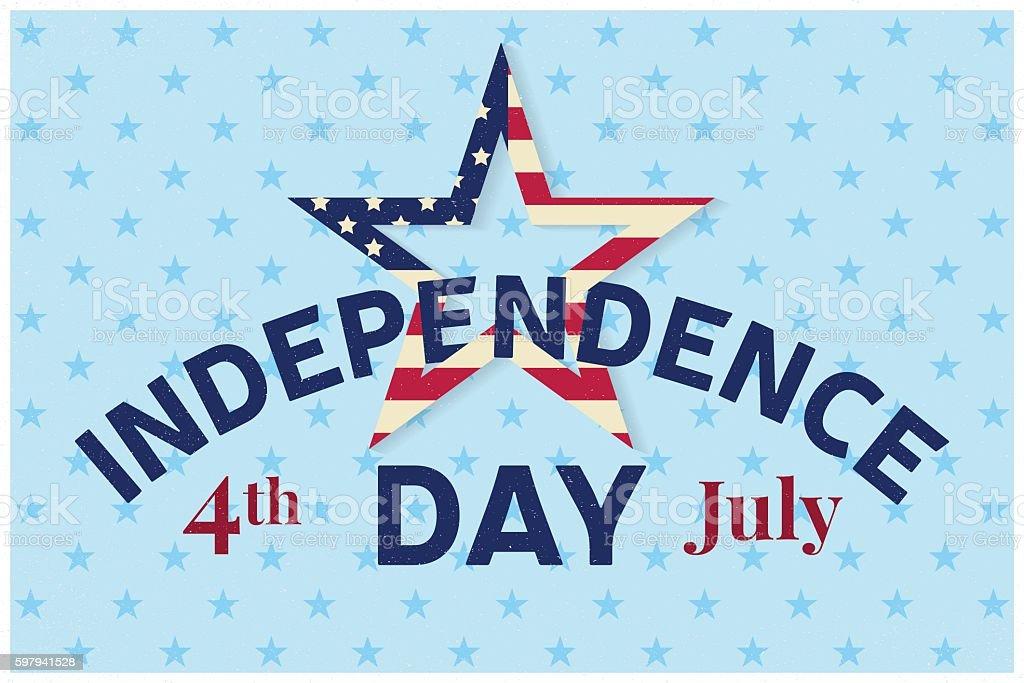 Independence day greeting card, flyer. ilustração de independence day greeting card flyer e mais banco de imagens de 4 de julho royalty-free