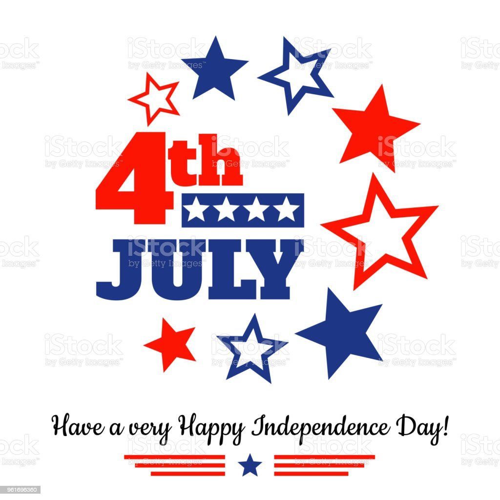 USA independence day greeting card vector art illustration