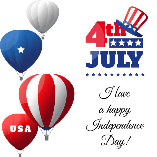 USA Independence Day greeting card - illustrazione arte vettoriale