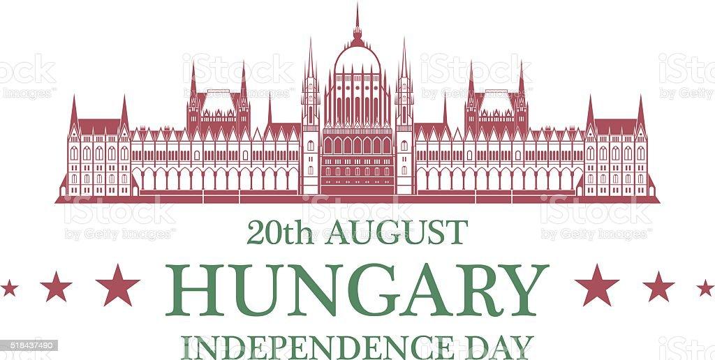 Tag der Unabhängigkeit. Ungarn – Vektorgrafik