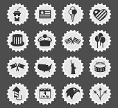 independence day icon set