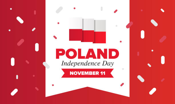 independence day in poland. national happy holiday, celebrated annual in november 11. polish flag. patriotic elements. poster, card, banner and background. vector illustration - polish flag stock illustrations