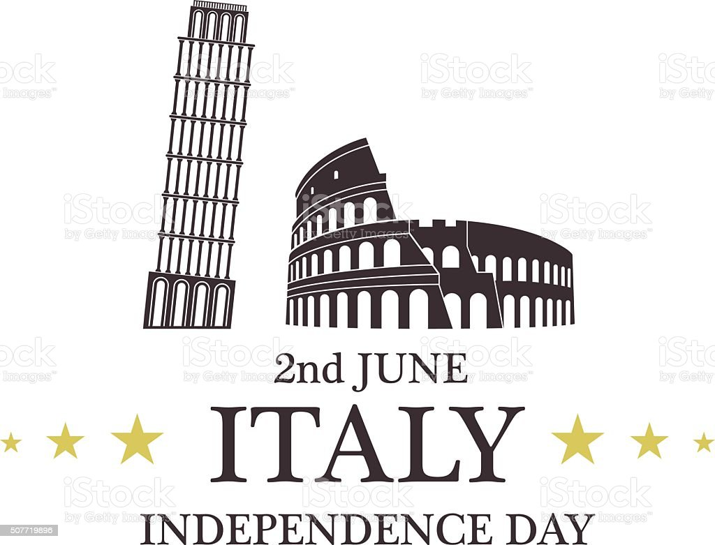 Independence Day. Italy vector art illustration