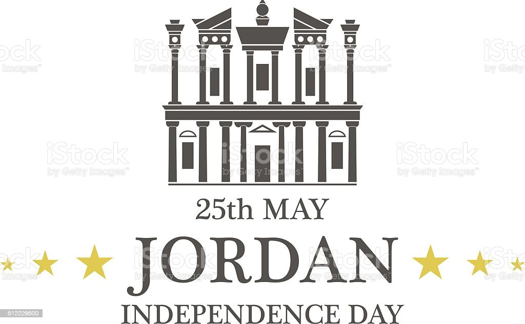 Independence Day. Jordan vector art illustration