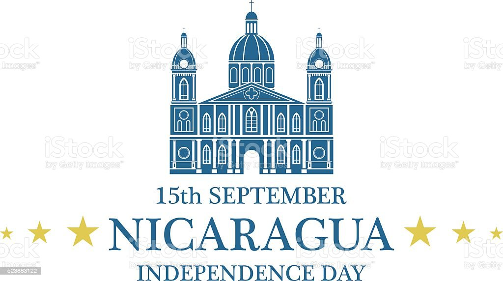independence day nicaragua stock vector art more images of