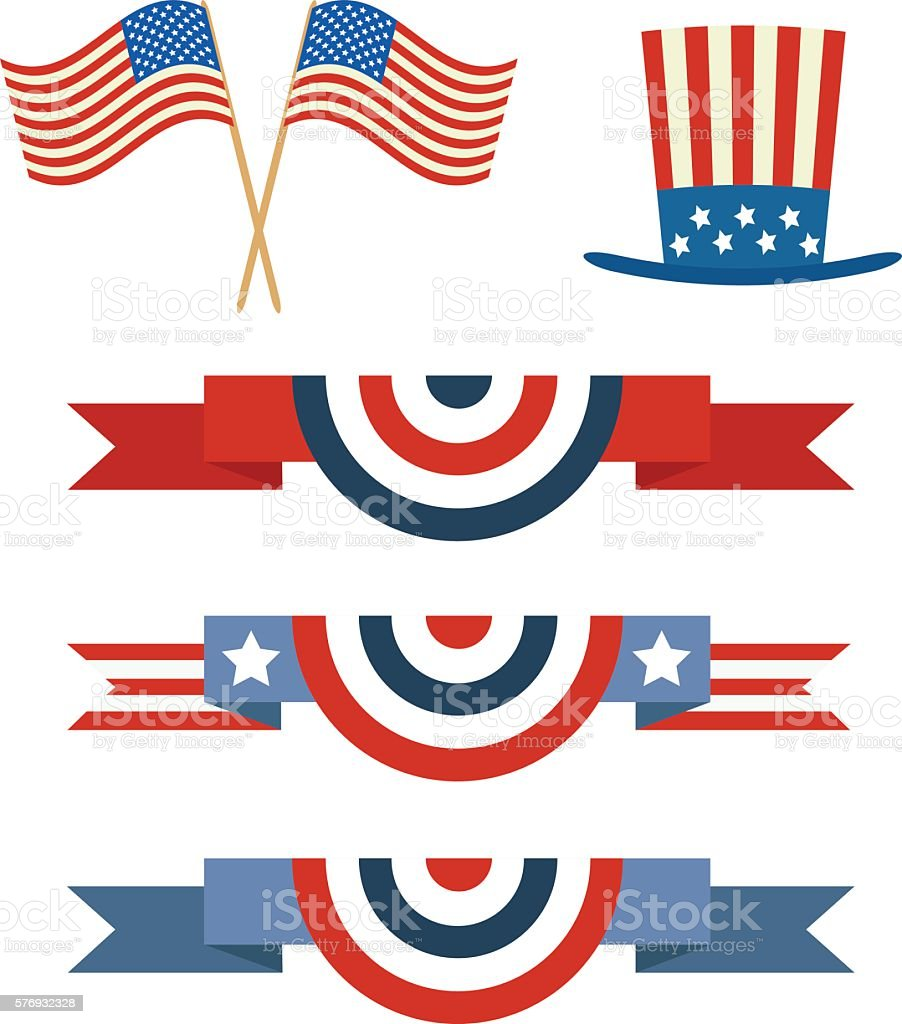 Independence day of America vector art illustration