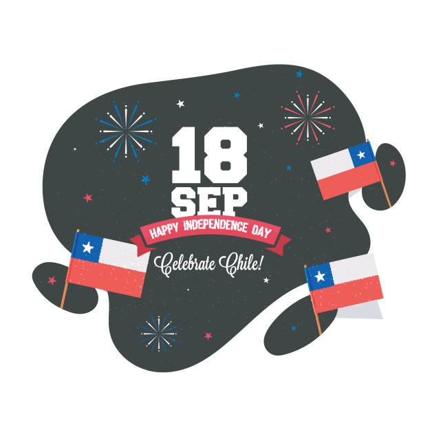 bağımsızlık günü şili arka plan tasarım. - şili stock illustrations