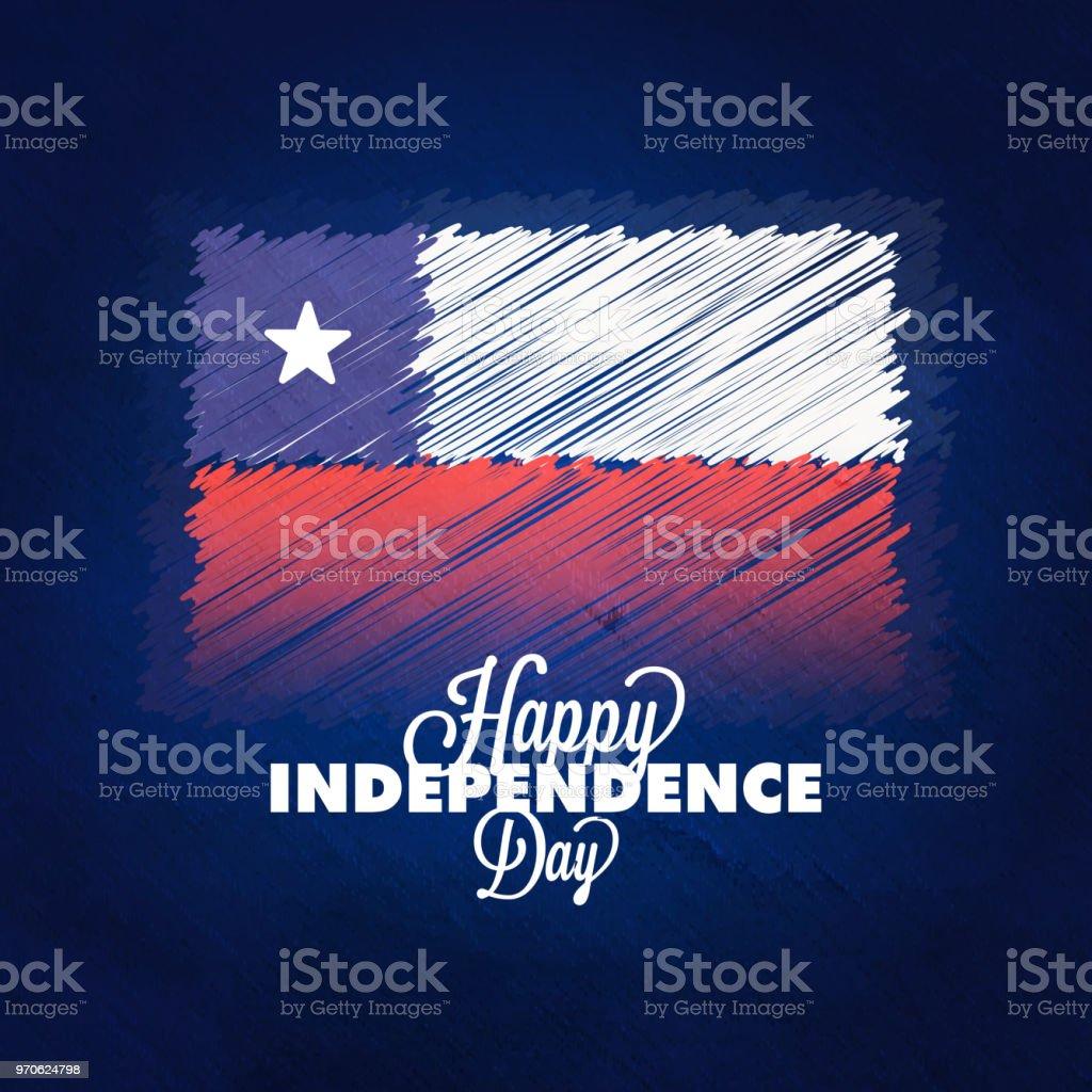 Tag der Unabhängigkeit von Chile Hintergrunddesign. – Vektorgrafik